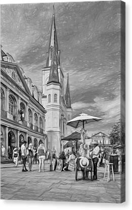 A Sunny Afternoon In Jackson Square 3 Canvas Print by Steve Harrington