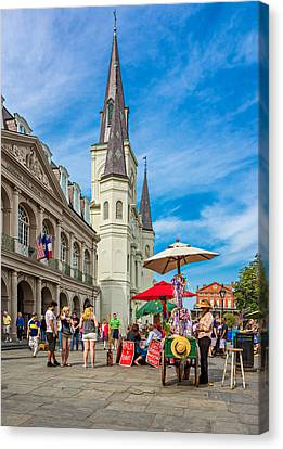 A Sunny Afternoon In Jackson Square Canvas Print by Steve Harrington