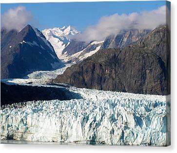 A Sunny Day In Glacier Bay Alaska Canvas Print