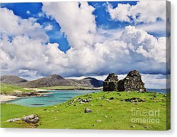 Canvas Print featuring the photograph A Sunny Day In The Hebrides by Juergen Klust