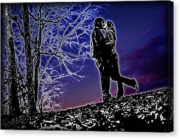 A Sunset Embrace Canvas Print by Brian Archer