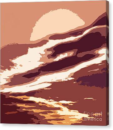 Rosy Hall Canvas Print - A Sunset In The Valley. Digital Drawing by Ausra Huntington nee Paulauskaite