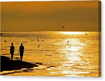 A Sunset Walk Canvas Print