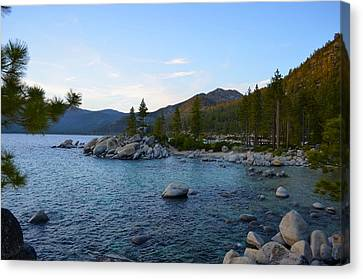 Just Before Sunset At Lake Tahoe Canvas Print by Alex King
