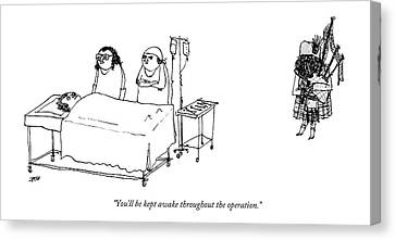 A Surgeon Addresses A Patient On The Operating Canvas Print