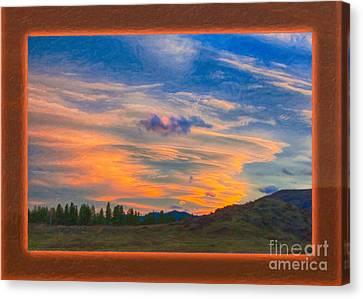 A Surprise Sunset Visit Landscape Painting Canvas Print by Omaste Witkowski
