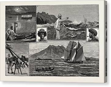 A Surveying Cruise Among The Solomon Islands 1 Canvas Print by English School