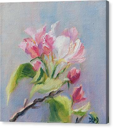 A Sweet Scent Canvas Print by Debbie Lamey-MacDonald