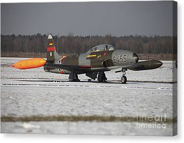 A T-33 Shooting Star Trainer Jet Canvas Print by Timm Ziegenthaler
