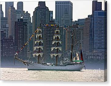 A Tall Ship Participating In Fleet Week Events In New York City  Canvas Print by Nishanth Gopinathan
