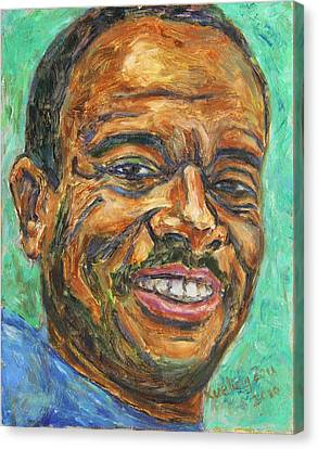 Canvas Print featuring the painting A Teacher From Atlanta Ga by Xueling Zou