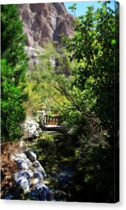 A Teeny Tiny Bridge Canvas Print by Laurie Search