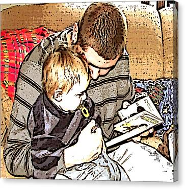 Canvas Print featuring the photograph A Tender Moment by Pamela Hyde Wilson