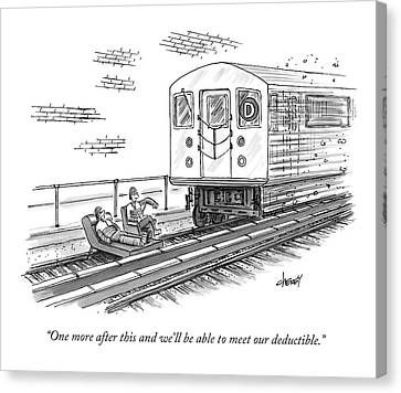 A Therapist Speaks To A Patient On Train Tracks Canvas Print