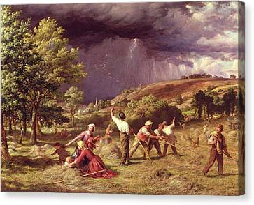 A Thunder Shower, 1859 Canvas Print