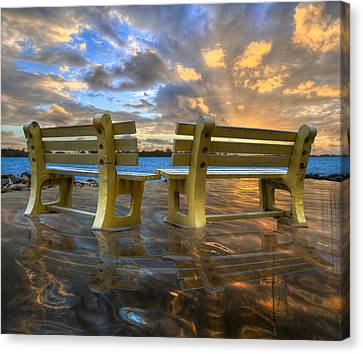 A Time For Reflection Canvas Print by Debra and Dave Vanderlaan