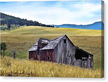 A Time In Montana Canvas Print