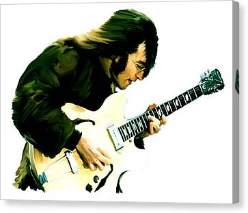 A Time It Was  John Lennon Canvas Print by Iconic Images Art Gallery David Pucciarelli
