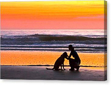 A Time To Bond Canvas Print by Jim Finch