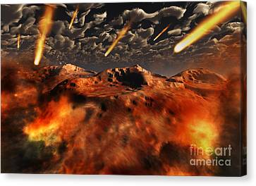 A Time When The Earth Was Being Formed Canvas Print