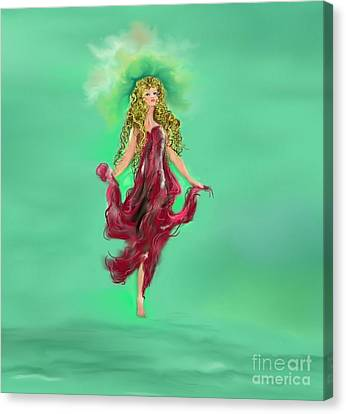 Canvas Print featuring the painting A Timeless Dream by Lori  Lovetere