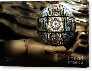 A Times Droplet Meditation Canvas Print by Rosa Cobos