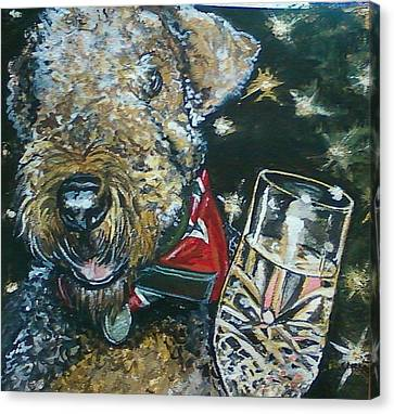 A Toast To Bailey Canvas Print by Alexandria Weaselwise Busen