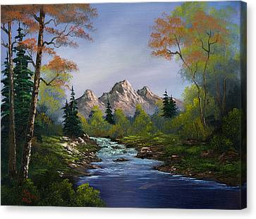 A Touch Of Autumn Canvas Print by C Steele