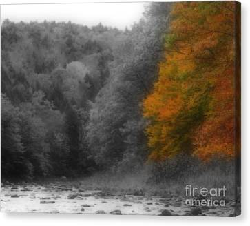 A Touch Of Autumn Colors Canvas Print by Smilin Eyes  Treasures