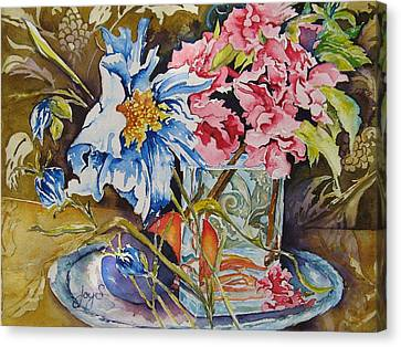 A Touch Of Class Canvas Print by Joy Skinner