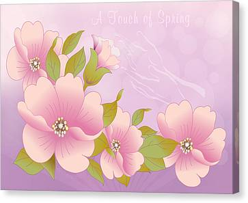 A Touch Of Spring Canvas Print by Gayle Odsather