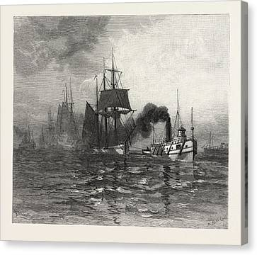 A Tow On Lake St Canvas Print by Canadian School