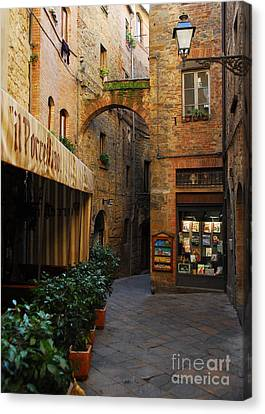 A Town In Tuscany Canvas Print by Mel Steinhauer