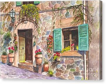 A Townhouse In Majorca Spain Canvas Print