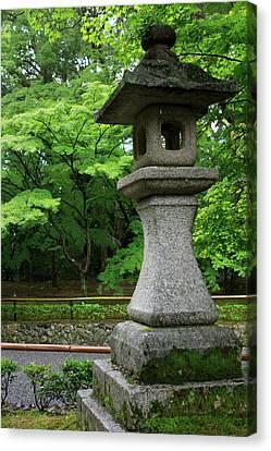 A Traditional Japanese Lantern Marks Canvas Print by Paul Dymond