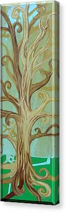 A Tree In Paris Canvas Print by Genevieve Esson