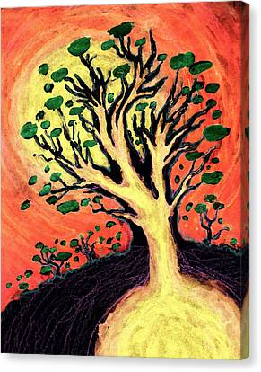 A Tree Is Born Canvas Print by David Condry