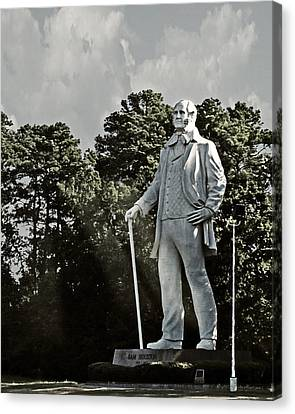 A Tribute To Courage Canvas Print by Walter Herrit