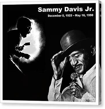 A Tribute To Sammy Davis Jr Canvas Print by Jim Fitzpatrick