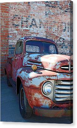 Canvas Print featuring the photograph A Truck In Goodland by Lynn Sprowl