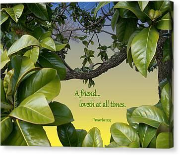 A True Friend Canvas Print by Larry Bishop