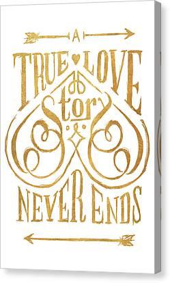 A True Love Story Canvas Print by South Social Studio