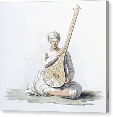 Lute Canvas Print - A Tumboora, Musical Instrument Played by Franz Balthazar Solvyns