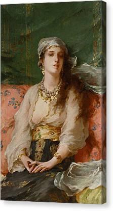 Gold Bracelet Canvas Print - A Turkish Beauty by Gaetano de Martini