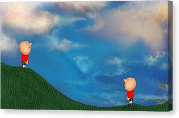A Twin's Perspective Canvas Print
