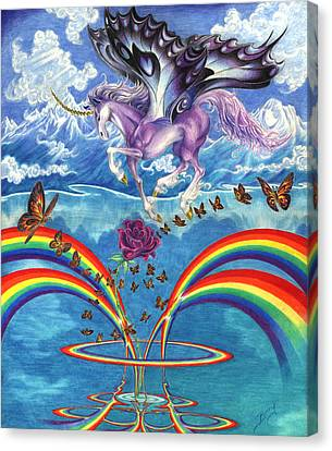 A Unicorn's Love Canvas Print by Barry Munden