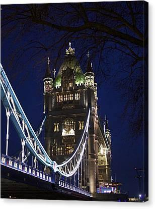 A Unique View Of Tower Bridge  Canvas Print