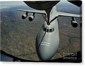 A U.s. Air Force Kc-135r Stratotanker Canvas Print by Stocktrek Images