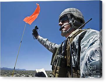 A U.s. Air Force Member Uses Canvas Print