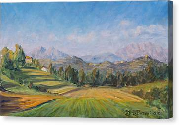 A Valley In Brianza Canvas Print by Marco Busoni